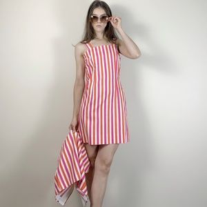 Vintage 1960s stripe dress and matching top.